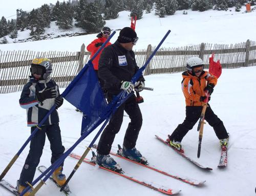 Esquiada amb família
